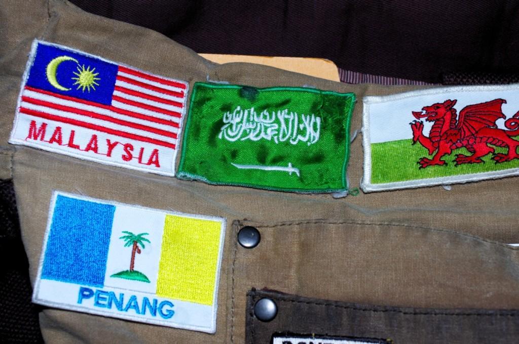 souvenir patch badge malaysia wales penang