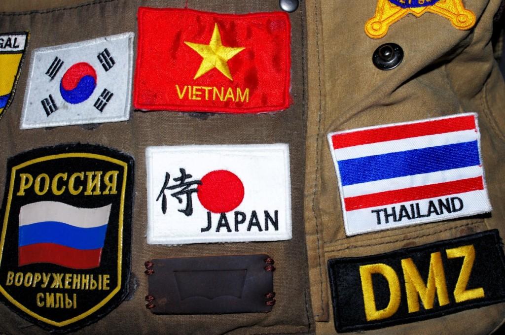 souvenir patches Japan thailand korea