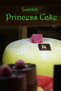 Princess cake Sweden green