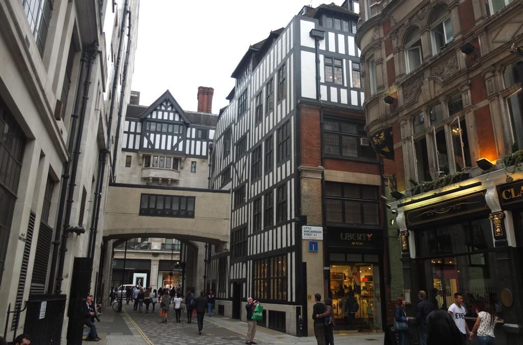 liberty london department store regent street tudor store front shopping
