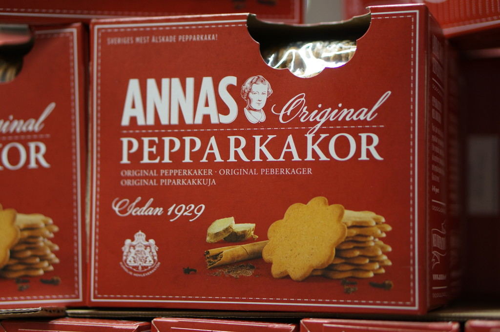 Rolled Swedish ginger cookies, like these from Annas Pepparkakor