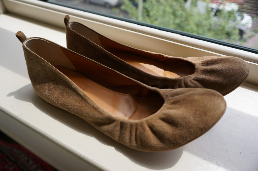 travel comfortable ballet flats foldable summer suede