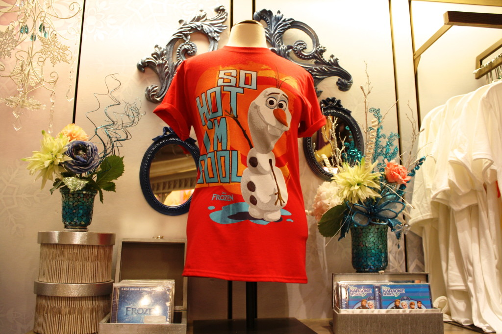 Frozen Olaf snowman merchandise t shirt movie disney world film