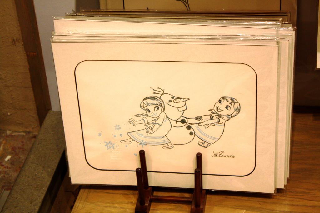 Frozen merchandise Olaf snowman Elsa Anna sketch disney
