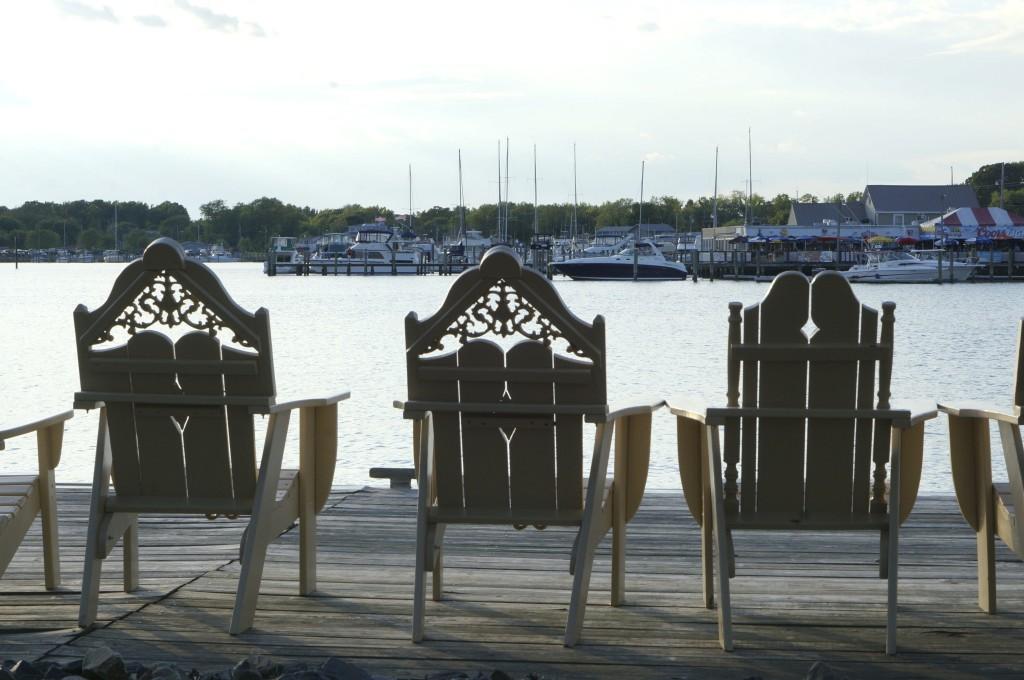 chesapeake bay views adirondack chairs