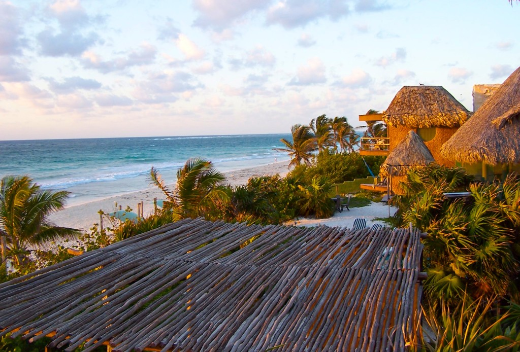 best tulum hotel cabana mexico beach thatched roof palapa