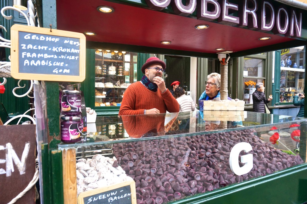 belgian cuberdons candy purple