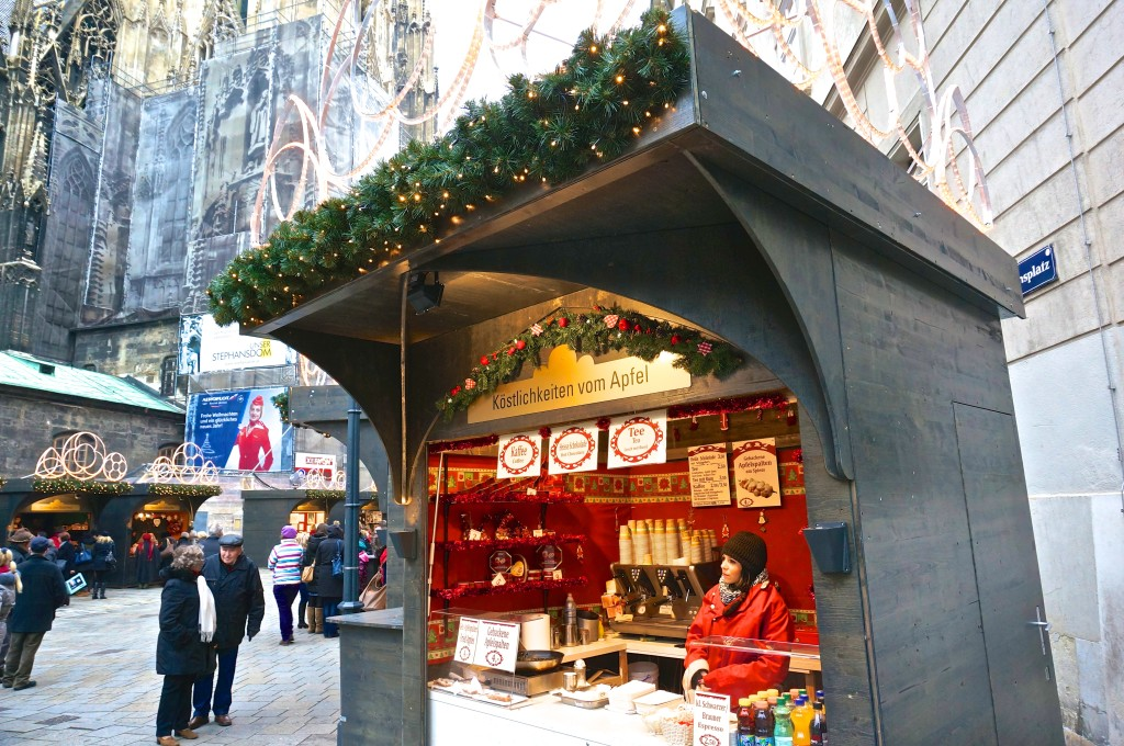 Stephansplatz Christmas Market Vienna Austria punsch drink food