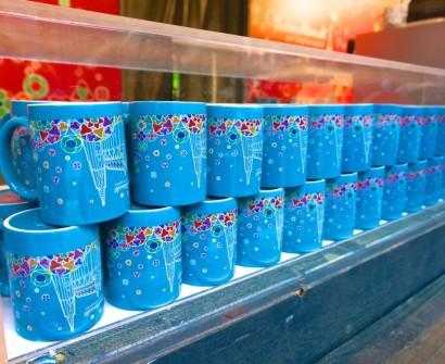 Stephansplatz Christmas Market Vienna Austria stall vendor mug