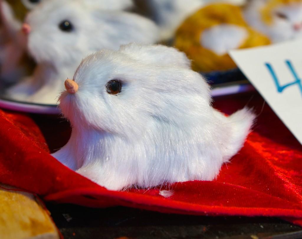 swedish white bunny christmas ornament