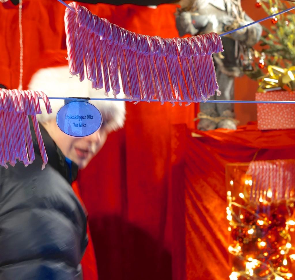 swedish candy cane Polkagris stockholm christmas market