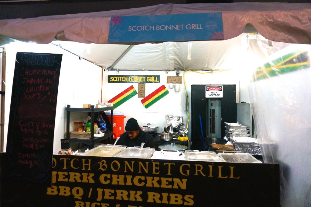 Scotch bonnet grill hester street fair holiday christmas market food stall
