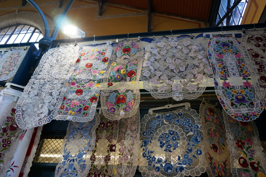 hungarian lace central market hall budapest