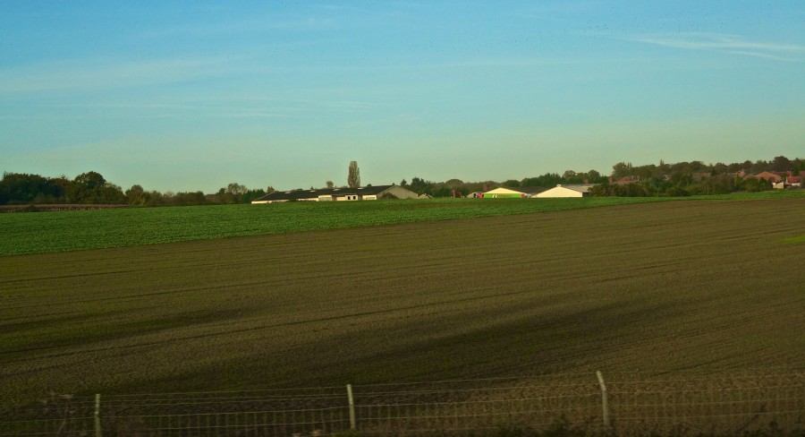 thalys train view countryside high speed