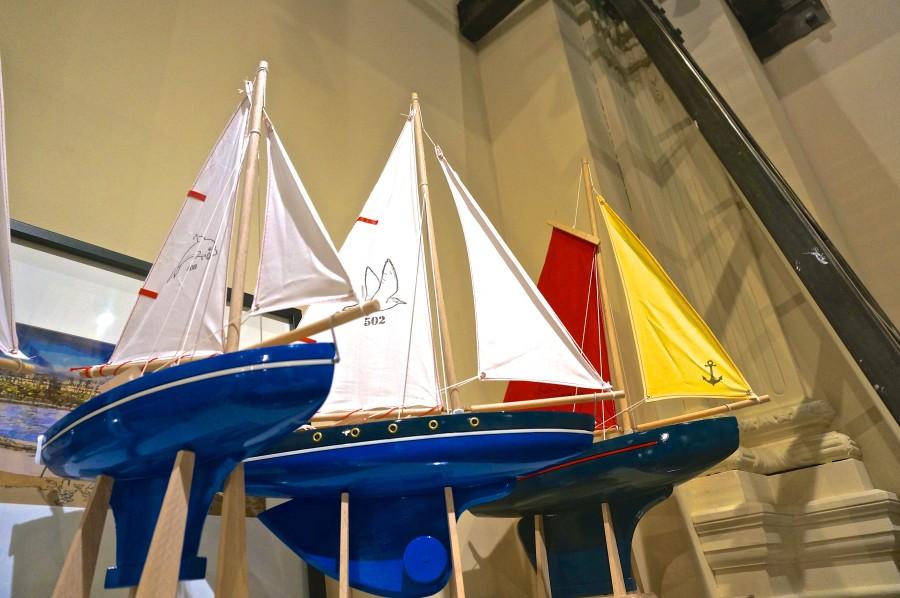 Paris boats souvenir classic French sailboat