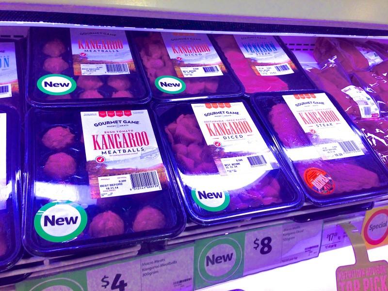 kangaroo meat Australia food Grocery supermarket Souvenirs