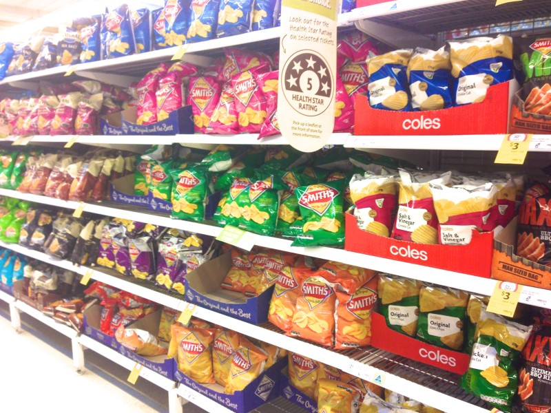 Australian potato chip flavors Australia food Grocery supermarket Souvenirs