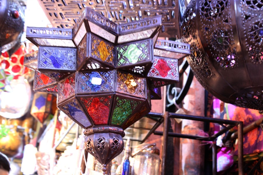 Marrakech souvenir souk Lamps best