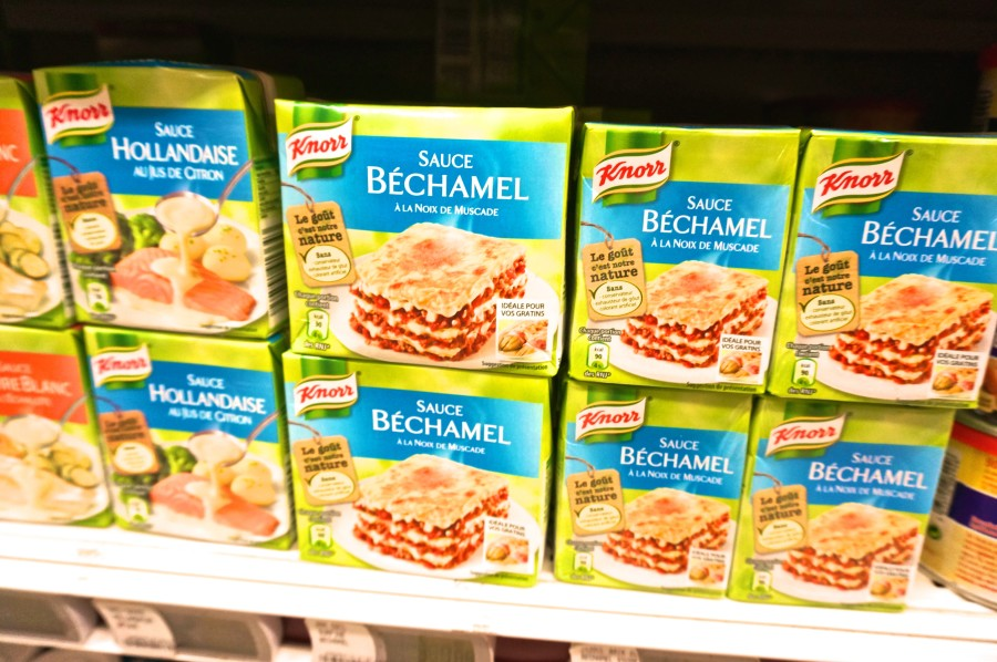 French bechamel instant mix from Monoprix