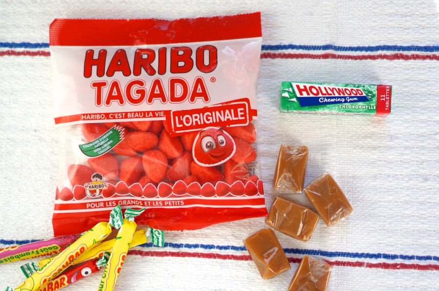 France's most popular candy: Haribo Targadas, carambars, sea salt caramels and Hollywood gum