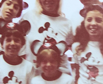 vintage mickey mouse ears and vintage mickey mouse t shirts 1970s