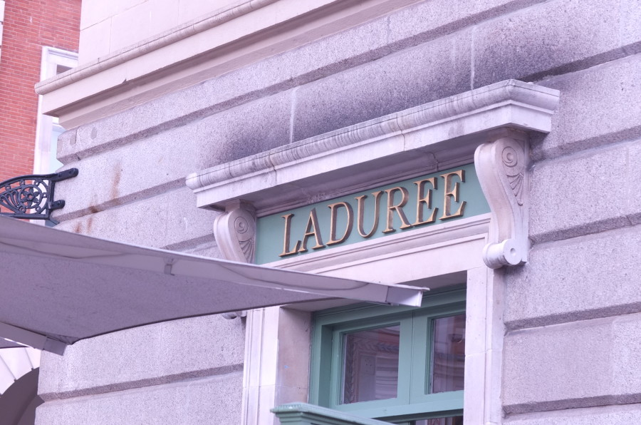 Ladurée macarons in London's Convent Garden.