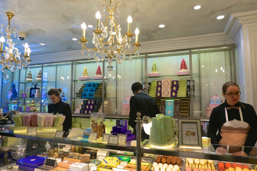 Best macarons Paris Laduree inside shop