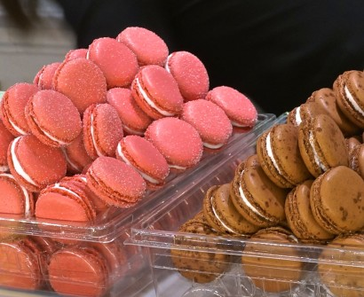 Pink Macarons From Laduree Paris