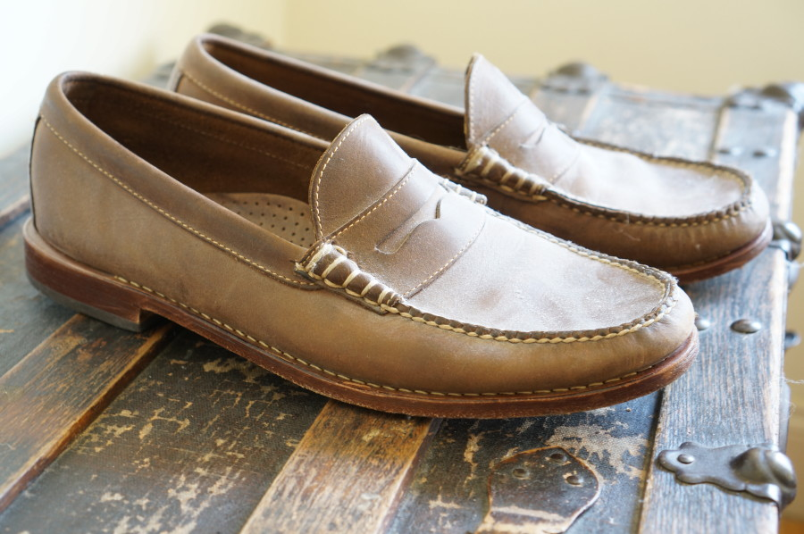 leather slip on travel shoe for men weejuns vacation