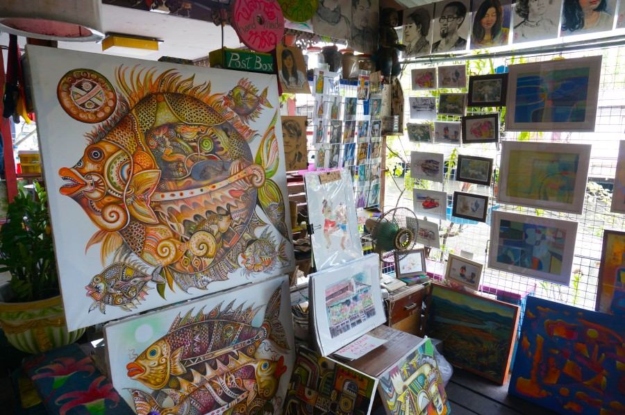 thai paintings fish original art
