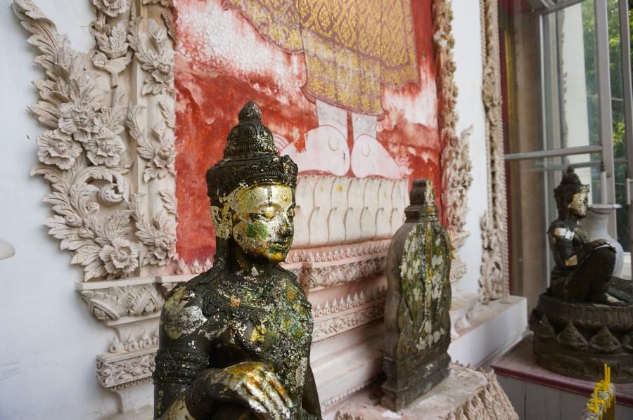 crumbling temples thailand bangkok asia