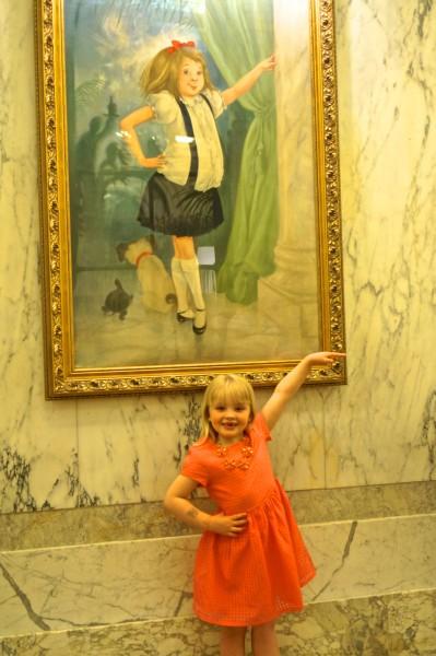 Eloise Plaza portrait painting hallway lobby nyc