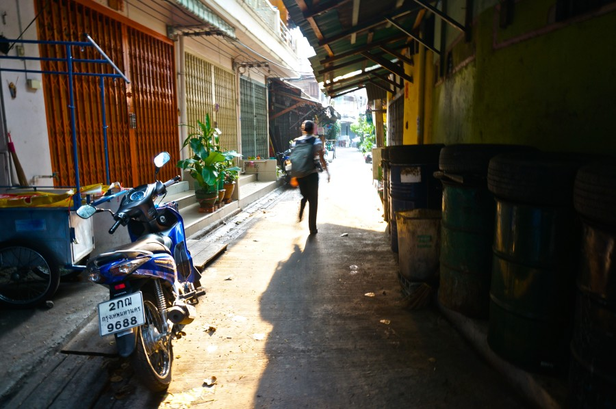Chinatown bangkok old alley ancient