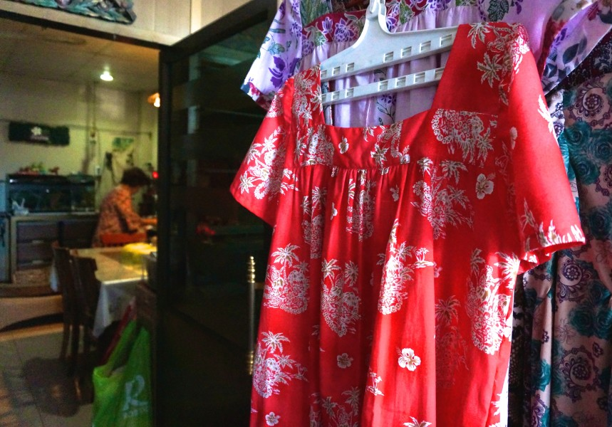 thai clothes from market trang