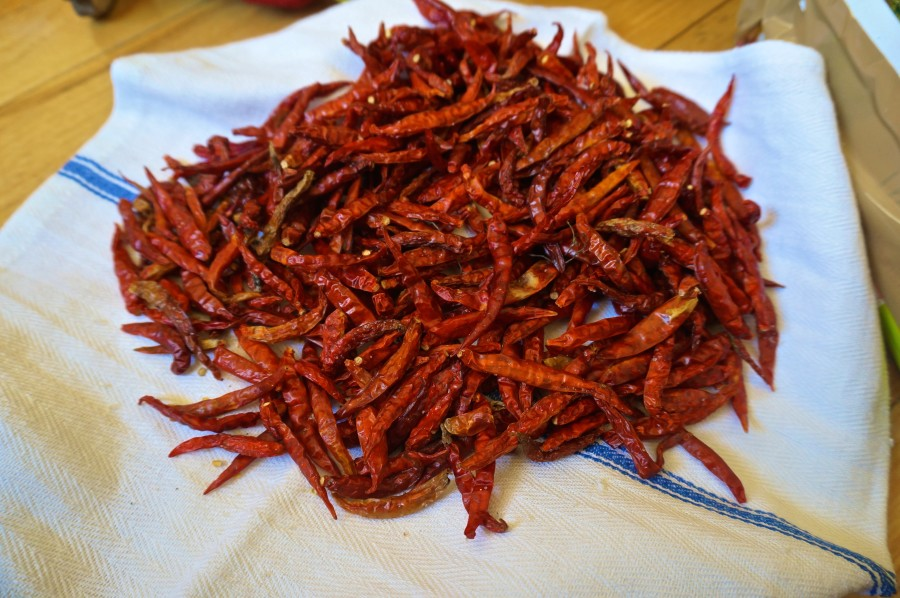 thai chili peppers red hot spicy