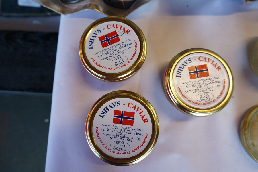 salmon caviar bergen fish market