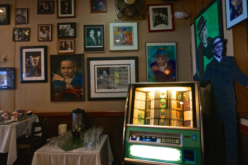 While the majority of the jukebox is dedicated to Sinatra, you'll find other crooners mixed in with some more recent additions.