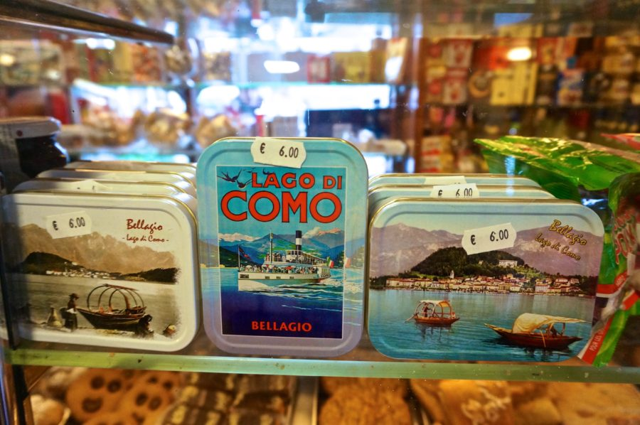 vintage candy tins lake como bellagio italy souvenir