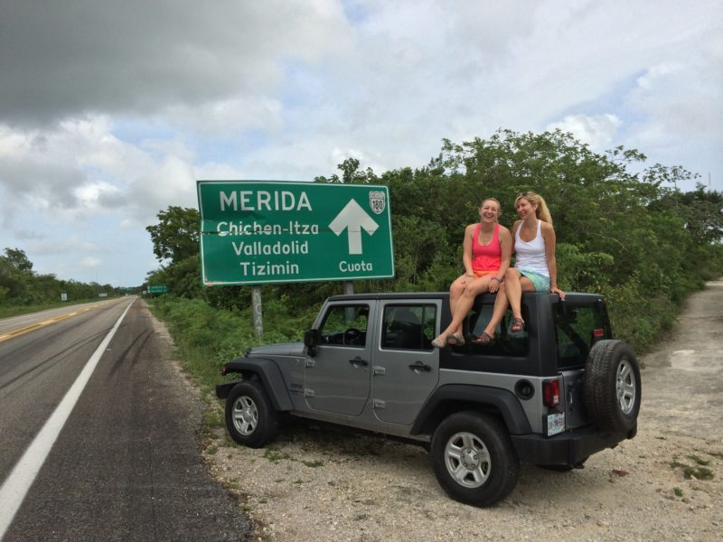 day trip from cancun drive car jeep chichen itza vallodolid