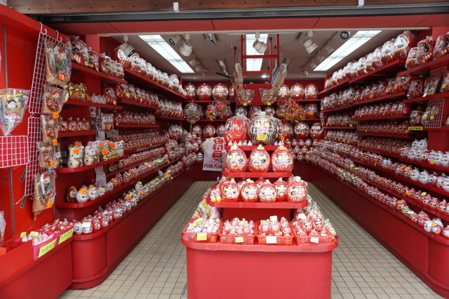 daruma doll shop japan souvenir