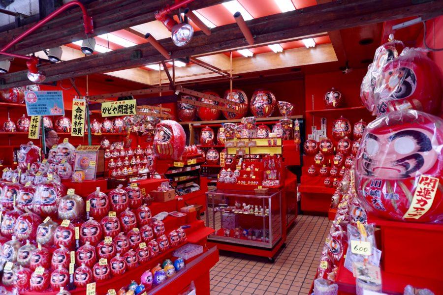daruma doll shop Japan