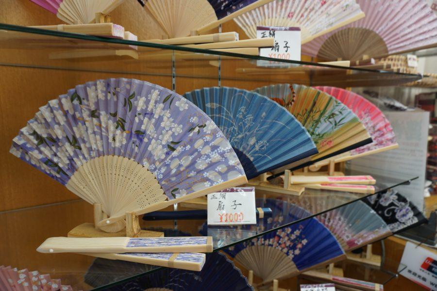 japanese fan souvenir asakusa buy tokyo market