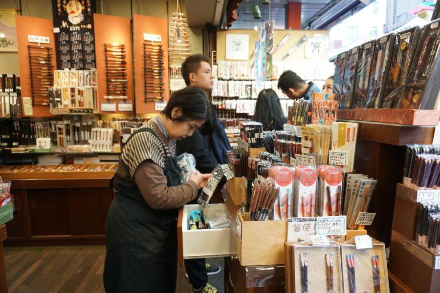 Japanese chopsticks for sale asakusa market tokyo
