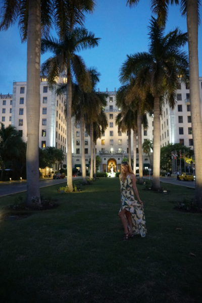 Hotel Nacional Havana Cuba front palm trees dress what to wear pack
