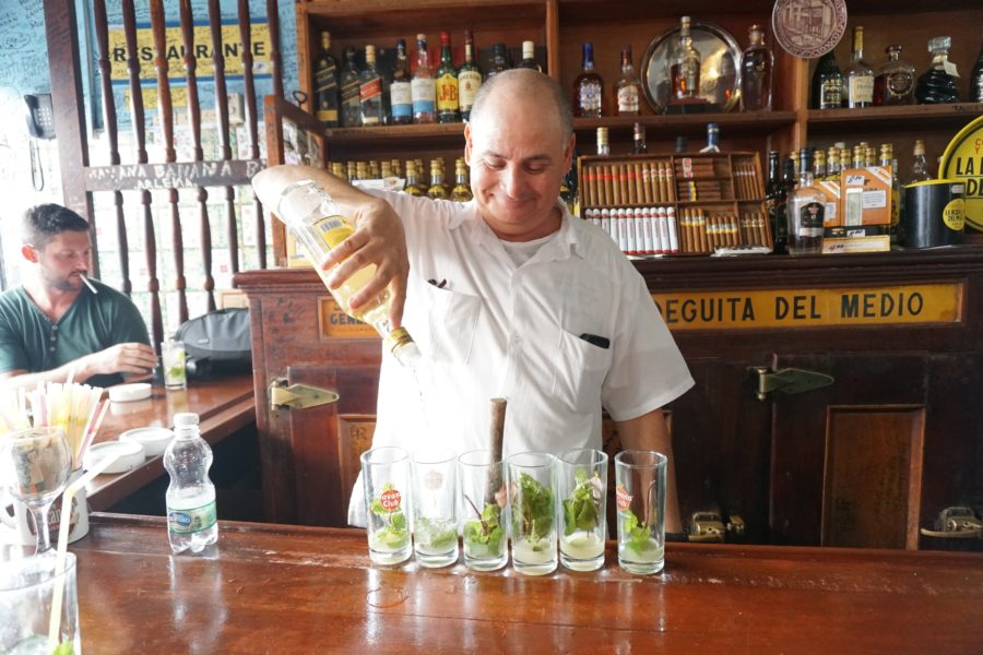 old Havana's La Bodeguita, they mix and muddle a lot of mojitos.