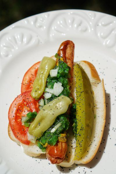 chicago style hot dog recipe neon green electric sweet relish
