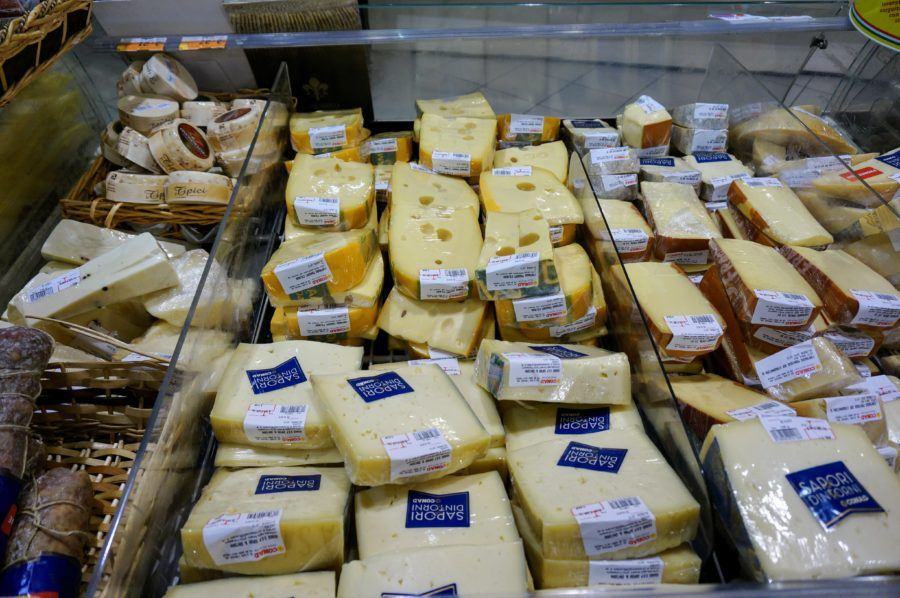 italy cheese department supermarket