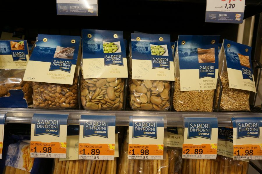 italian dried beans supermarket