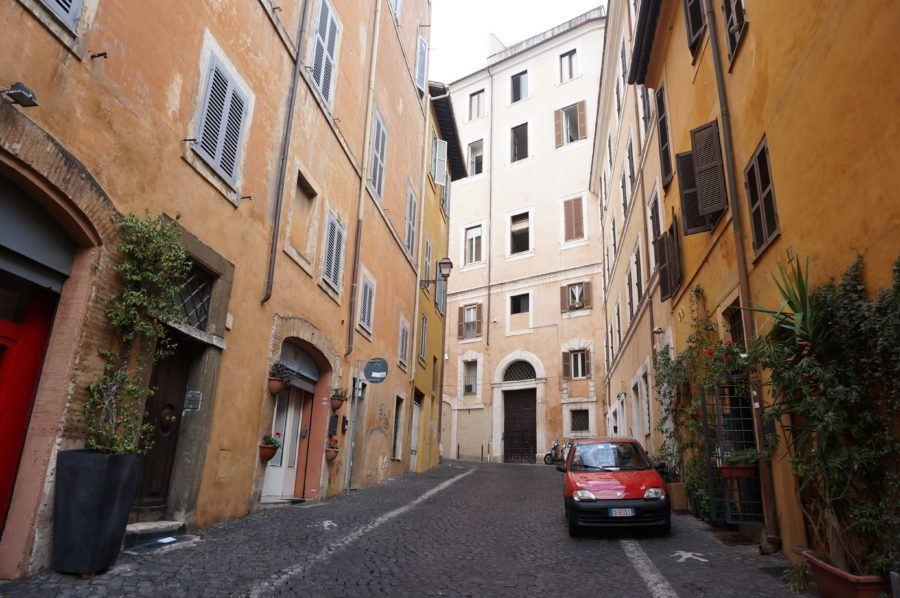 monti street rome shopping cobblestone