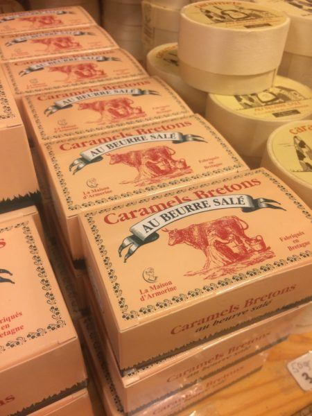 Beautifully packaged salted caramels bretons, a top Brittany souvenir.